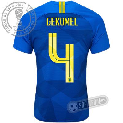 Camisa Brasil - Modelo II (GEROMEL #4)