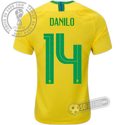 Camisa Brasil - Modelo I (DANILO #14)
