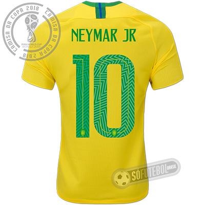 Camisa Brasil - Modelo I (NEYMAR JR #10)