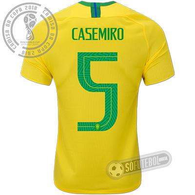 Camisa Brasil - Modelo I (CASEMIRO #5)