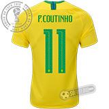 Camisa Brasil - Modelo I (P. COUTINHO #11)