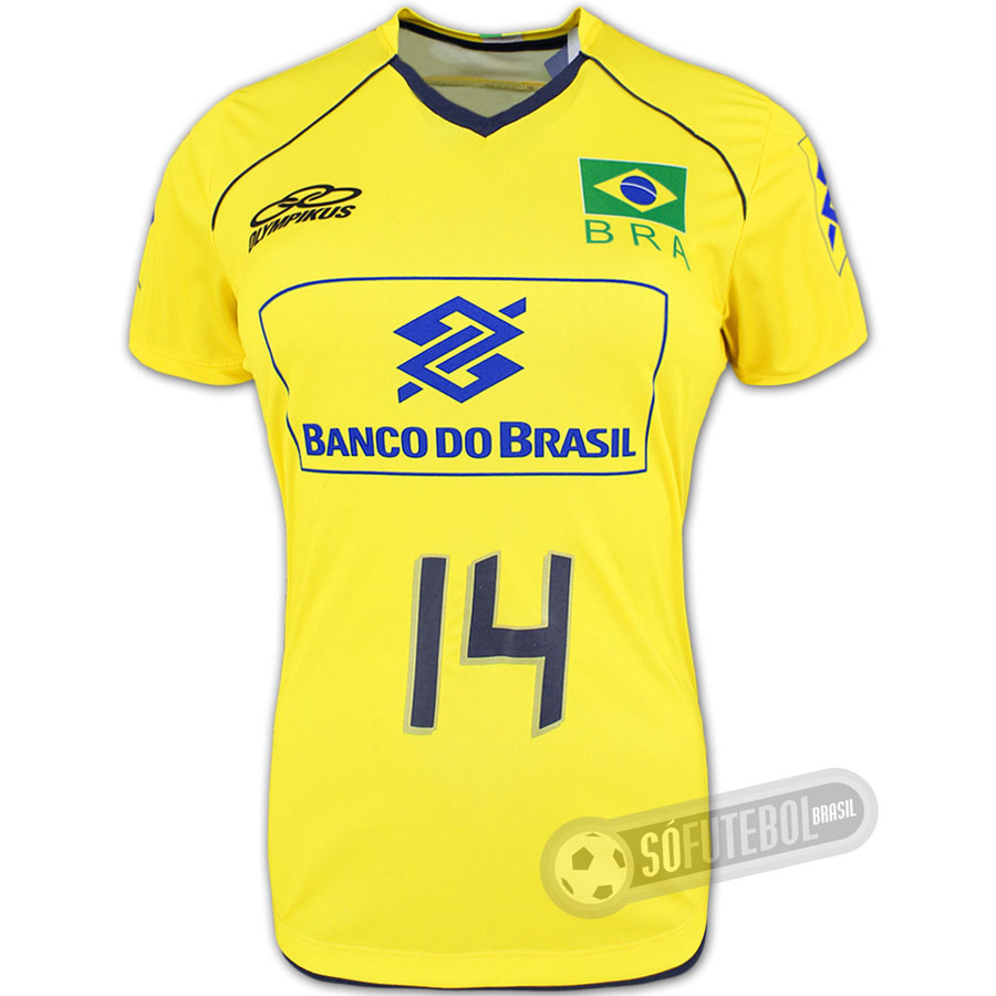 c66c9e150d45a Camisa Jogo Brasil - Vôlei - Feminina