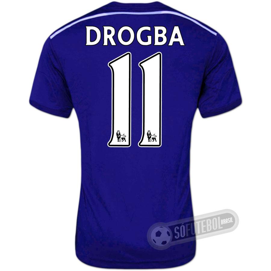 Camisa Chelsea - Modelo I - DROGBA  11 443dbcd7b7865