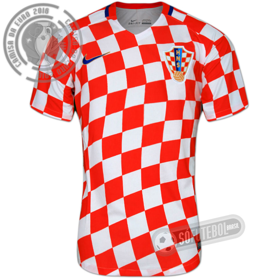 Camisa Croácia - Modelo I. Carregando. 659e44e3b5459