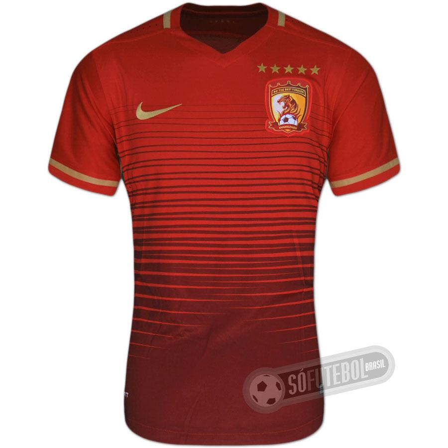 60e3db739 Camisa Guangzhou Evergrande - Modelo I