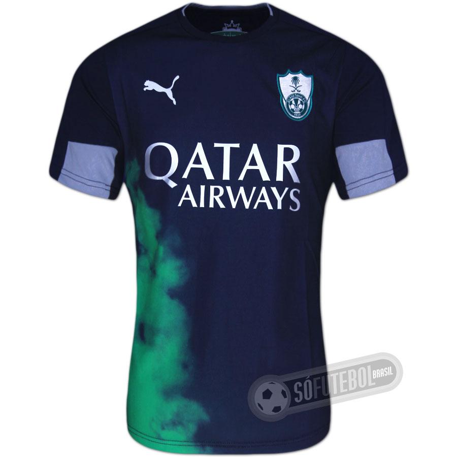 4b01f535f Camisa Al-Ahli Saudi - Modelo II. Carregando.