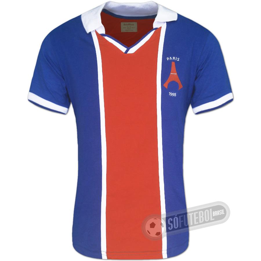 93eae07d3 Camisa PSG (Paris Saint Germain) 1998 - Modelo I