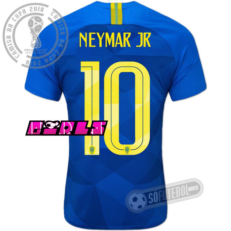f9e089dd93 Camisa Brasil - Modelo II Feminina (NEYMAR JR  10)