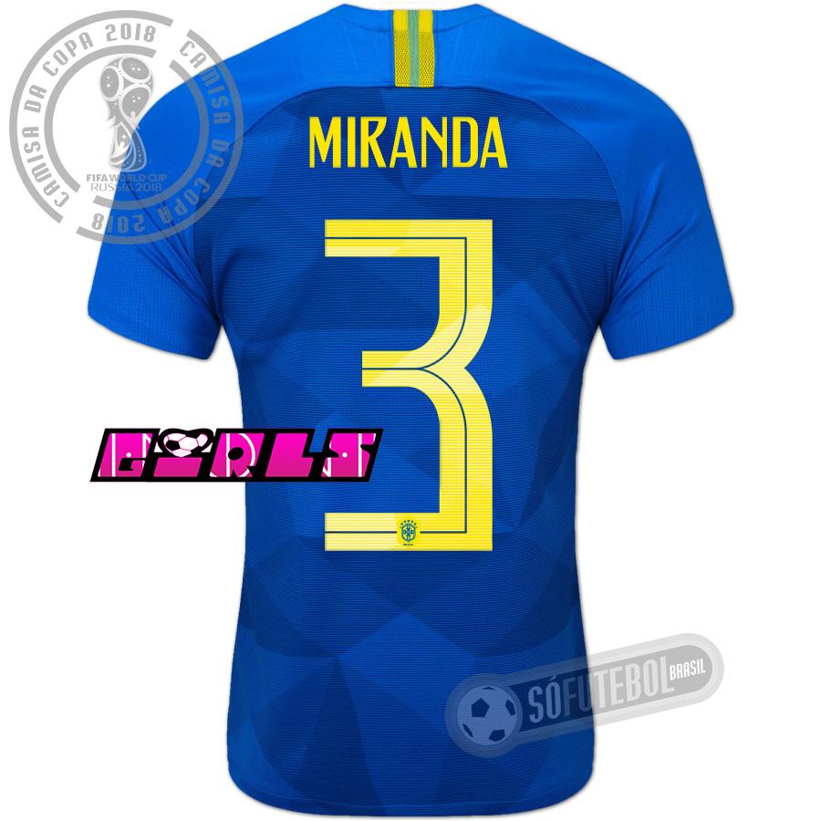 e4e43e1019 Camisa Brasil - Modelo II Feminina (MIRANDA  3)