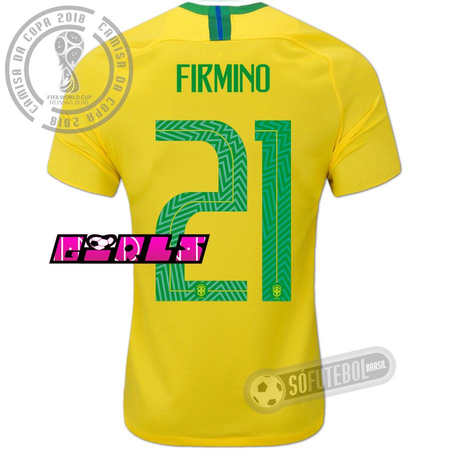 23a1c314d9 Camisa Brasil - Modelo I Feminina (FIRMINO  21). Carregando.
