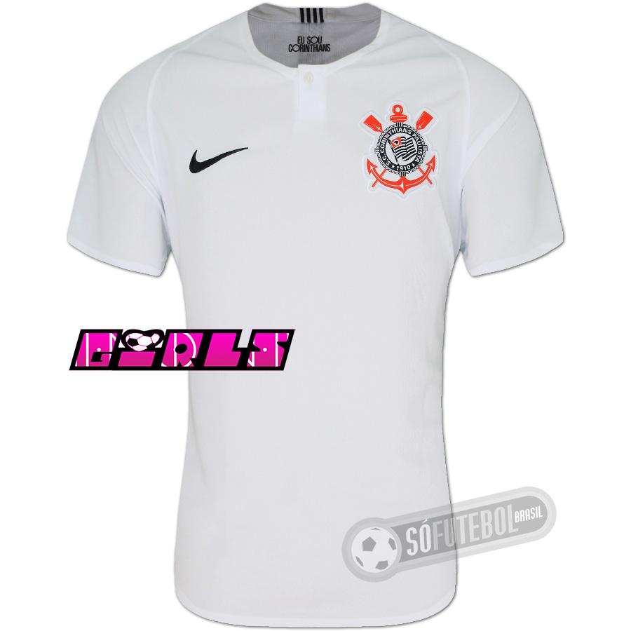 9525f96757 Camisa Corinthians - Modelo I Feminina. Carregando.