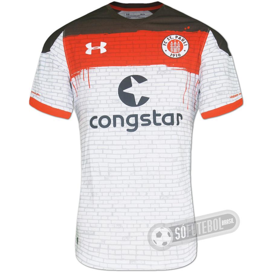 14cf6203d46e3 Camisa Sankt Pauli - Modelo II