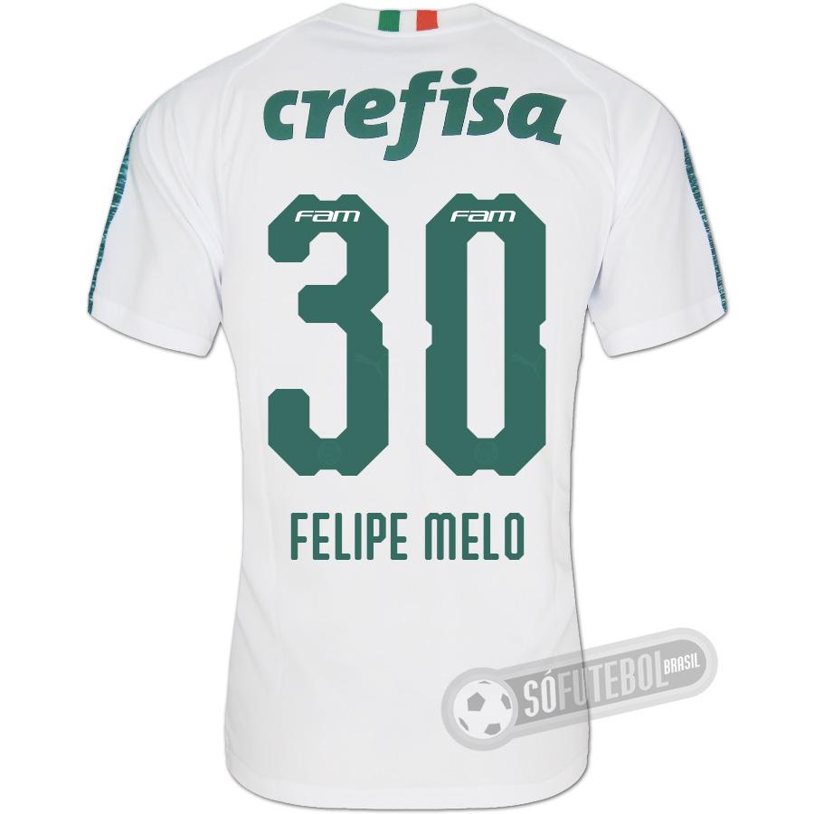 Camisa Palmeiras - Modelo II (FELIPE MELO  30). Carregando. 6c2b228506792