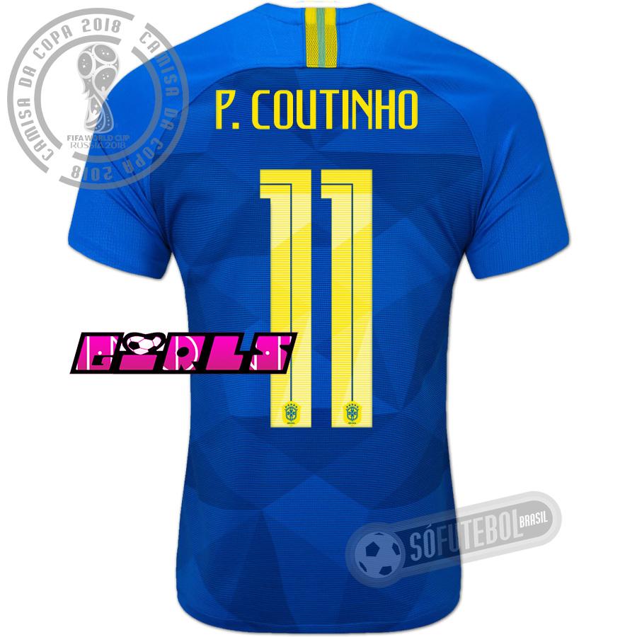 Camisa Brasil - Modelo II Feminina (P. COUTINHO  11). Carregando. e43f7703d05b2