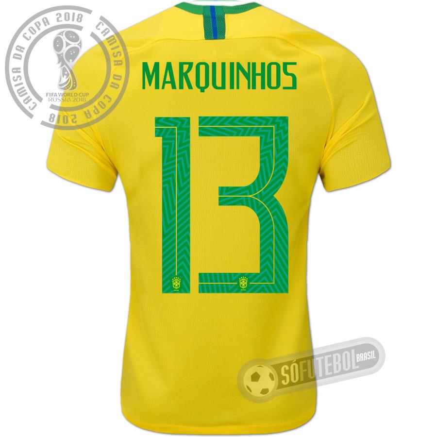 cc056942b Camisa Brasil - Modelo I (MARQUINHOS  13)