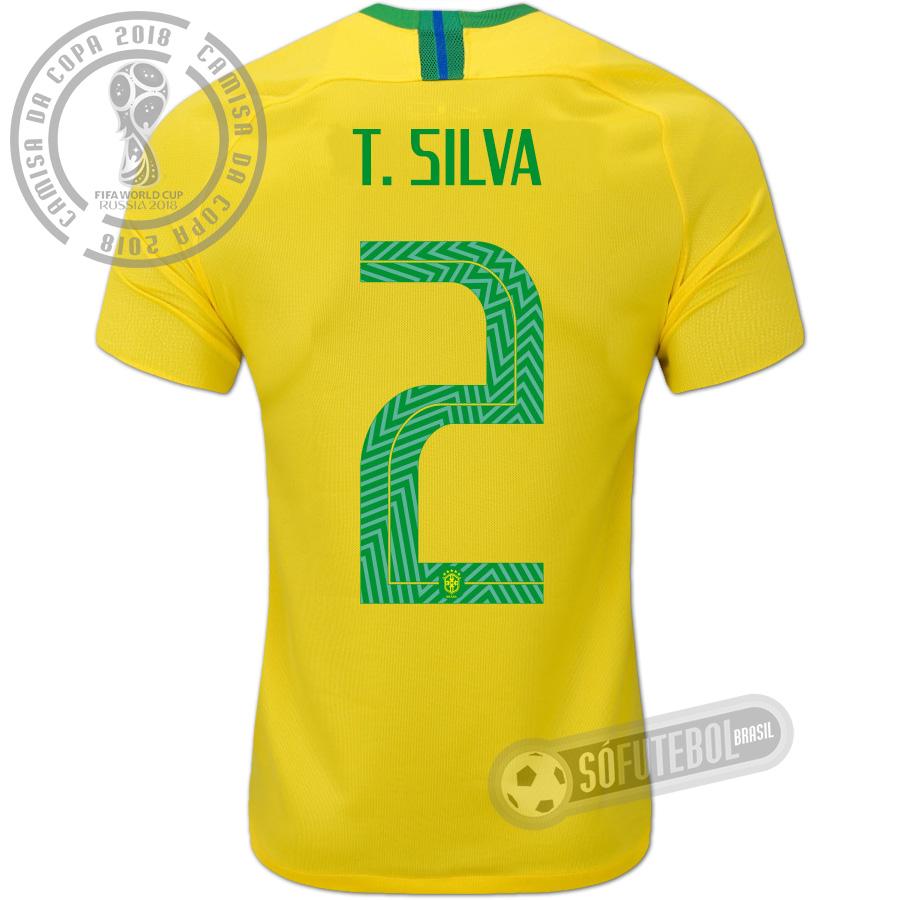 97d8e07ad Camisa Brasil - Modelo I (T. SILVA  2). Carregando.